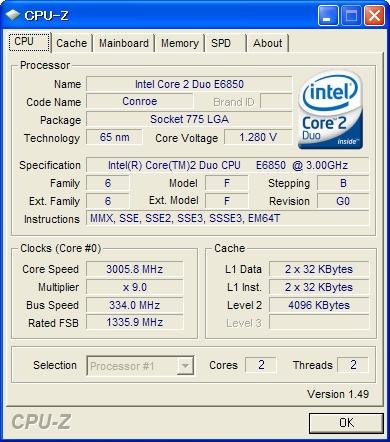 Core2 Duo E6850 (定格動作)